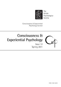 Consciousness and Experiential Psychology Issue 12: Spring 2011 cover image