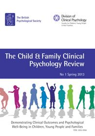 Child and Family Clinical Psychology Review No 1 2013 cover image