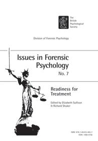Issues in Forensic Psychology No 7: Readiness for treatment cover image