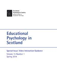 Educational Psychology in Scotland Vol 15 No 1 Spring 2014 cover image
