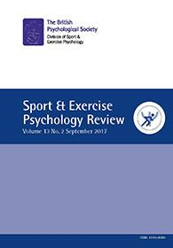 Sport & Exercise Psychology Review Vol 13 No 2 September 2017 cover image