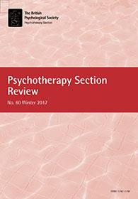 Psychotherapy Section Review No 60 Winter 2017 cover image