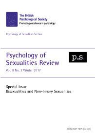 Psychology of Sexualities Review Vol 8 No 2 Winter 2017 cover image
