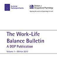 Work-Life Balance Bulletin: A DOP Publication Volume 1 Winter 2017 cover image