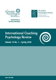 International Coaching Psychology Review Vol 13 No 1 Spring 2018 cover image