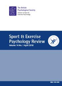 Sport & Exercise Psychology Review Vol 14 No 1 April 2018 cover image