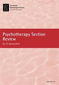 Psychotherapy Section Review No 61 Spring 2018 cover image