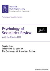 Psychology of Sexualities Review Vol 9 No 1 Spring 2018 cover image