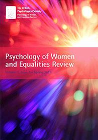 Psychology of Women and Equality Review Vol 1.1 Spring 2018 cover image