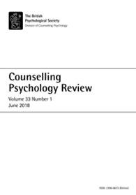 Counselling Psychology Review Vol 33 No 1 June 2018 cover image
