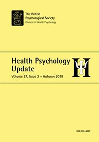 Health Psychology Update Vol 27 No 2 Autumn 2018 cover image