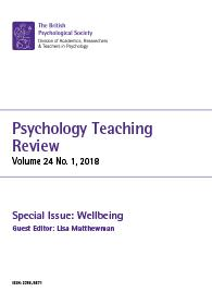 Psychology Teaching Review Vol 24 No 1 2018 cover image
