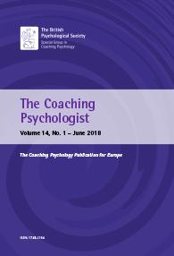 The Coaching Psychologist Vol 14 No 1 June 2018 cover image