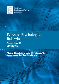 Wessex Psychologist Bulletin Special Issue 15 Spring 2018 cover image