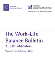 Work-Life Balance Bulletin: A DOP Publication Volume 2, No. 1 Summer 2018 cover image
