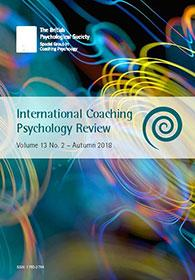 International Coaching Psychology Review Vol 13 No 2 Autumn 2018 cover image