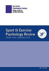 Sport & Exercise Psychology Review Vol 14 No 2 September 2018 cover image