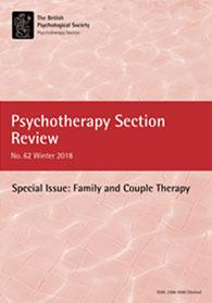 Psychotherapy Section Review No 62 Winter 2018 cover image
