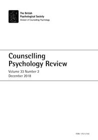 Counselling Psychology Review Vol 33 No 2 December 2018 cover image