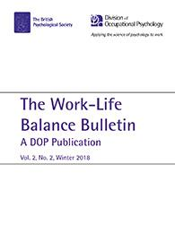 Work-Life Balance Bulletin: A DOP Publication Volume 2 Number 2 Winter 2018 cover image