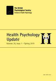 Health Psychology Update Vol 28 No 1 Spring 2019 cover image