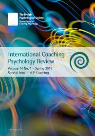 International Coaching Psychology Review Vol 14 No 1 Spring 2019 cover image