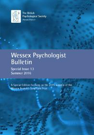 Wessex Psychologist Bulletin Special Issue 13 Summer 2016 cover image