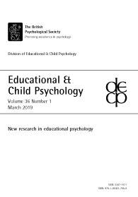 Educational & Child Psychology Vol 36 No 1 March 2019: New research in educational psychology cover image