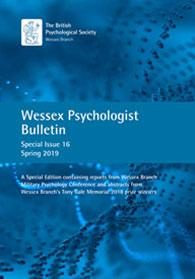 Wessex Psychologist Bulletin Special Issue 16 Spring 2019 cover image
