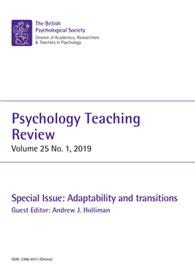 Psychology Teaching Review Vol 25 No 1 2019 cover image