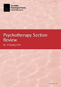 Psychotherapy Section Review No 63 Spring 2019 cover image