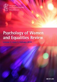 Psychology of Women and Equalities Review Vol 2.1 Summer 2019 cover image