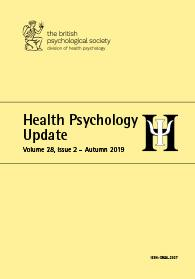 Health Psychology Update Vol 28 No 2 Autumn 2019 cover image