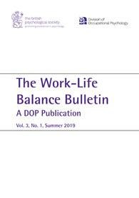 Work-Life Balance Bulletin: A DOP Publication Volume 3, No. 1 Summer 2019 cover image