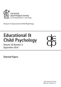 Educational & Child Psychology Vol 36 No 3 September 2019: Selected papers cover image