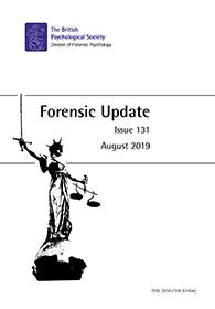 Forensic Update No 131 August 2019 cover image