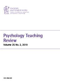 Psychology Teaching Review Vol 25 No 2 2019 cover image