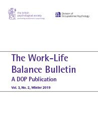 Work-Life Balance Bulletin: A DOP Publication Volume 3, No. 2 Winter 2019 cover image