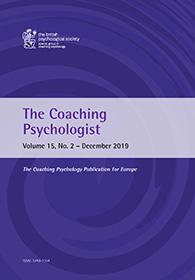 The Coaching Psychologist Vol 15 No 2 December 2019 cover image