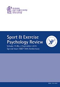 Sport & Exercise Psychology Review Vol 15 No 2 September 2019 cover image