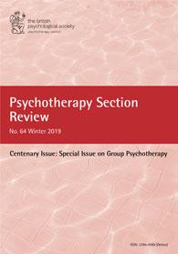 Psychotherapy Section Review No 64 Winter 2019 cover image