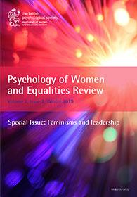 Psychology of Women and Equalities Review Vol 2.2 Winter 2019 cover image