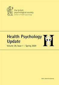 Health Psychology Update Vol 29 No 1 Spring 2020 cover image