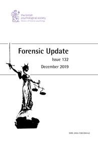 Forensic Update No 132 December 2019 cover image
