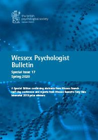 Wessex Psychologist Bulletin Special Issue 17 Spring 2020 cover image