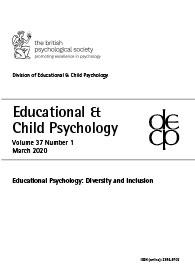 Educational & Child Psychology Vol 37 No 1 March 2020: Educational Psychology: Diversity and Inclusion cover image