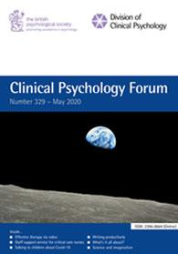 Clinical Psychology Forum No 329 May 2020 cover image