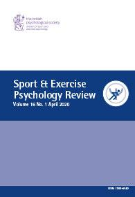 Sport & Exercise Psychology Review Vol 16 No 1 April 2020 cover image