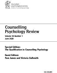 Counselling Psychology Review Vol 35 No 1 June 2020 cover image