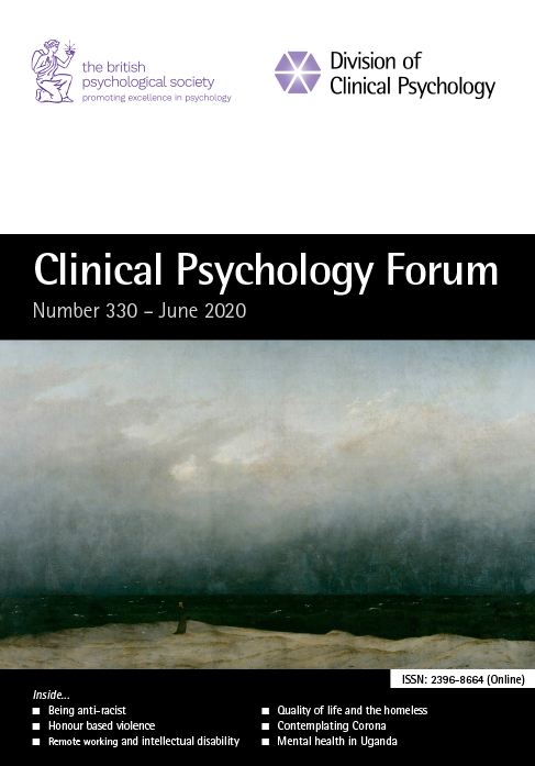 Clinical Psychology Forum No 330 June 2020 cover image